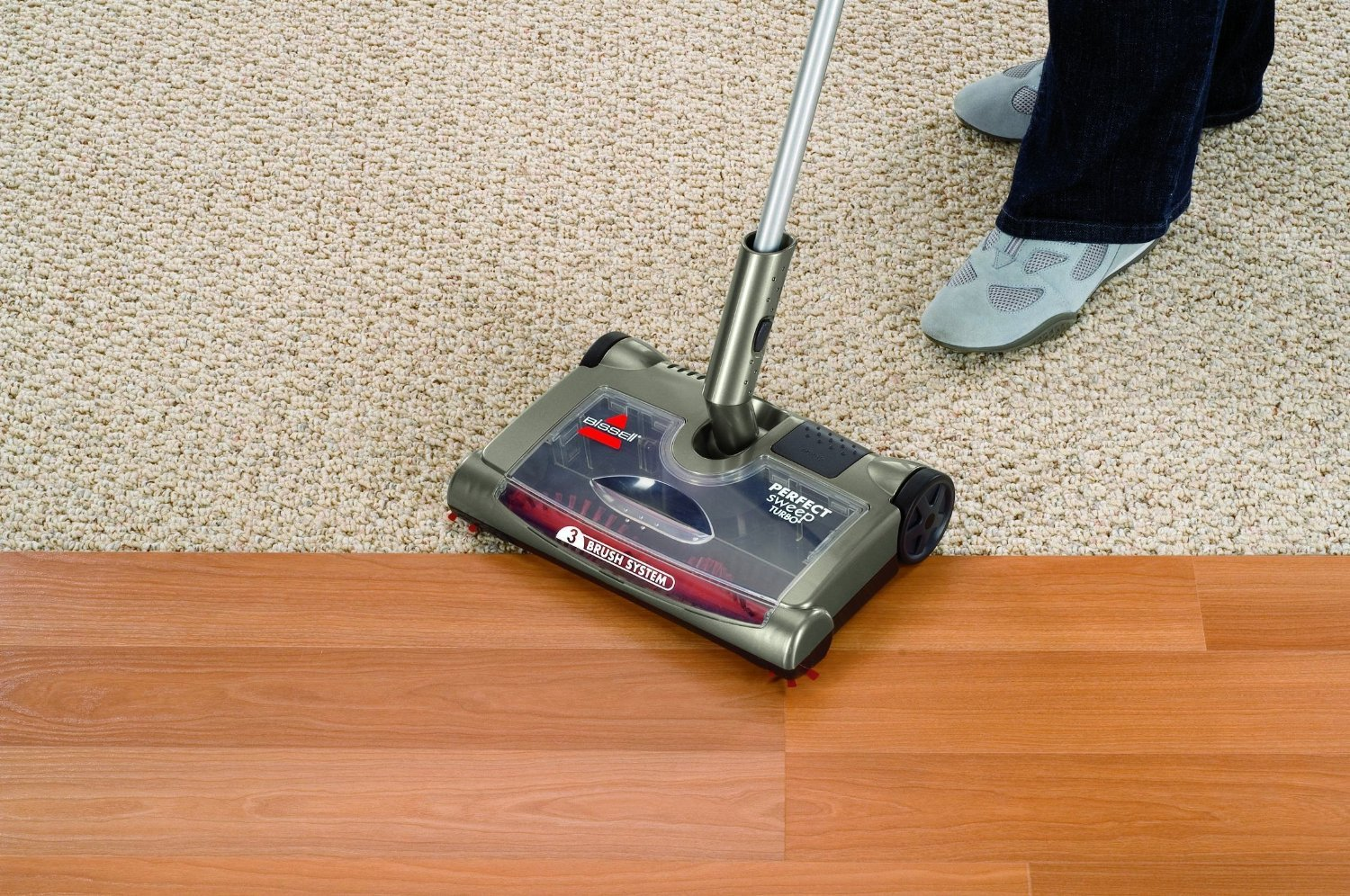 Swan Cordless Electric Floor Sweeper Review Carpet
