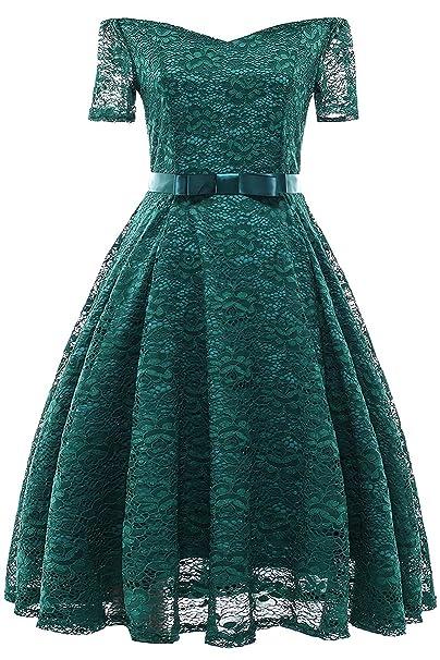Misshow Summer Dresses for Women 1940 Dress Hepburn Vintage