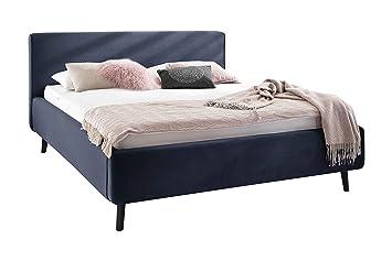 Polsterbett 160x200 cm Modernes Bett mit Samtbezug ...