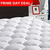 "LEISURE TOWN Cal King Overfilled Mattress Pad Cover ❤️8-21""Deep Pocket❤️Cooling Fitted Mattress Topper Snow Down Alternative Fill❤️Cooling"