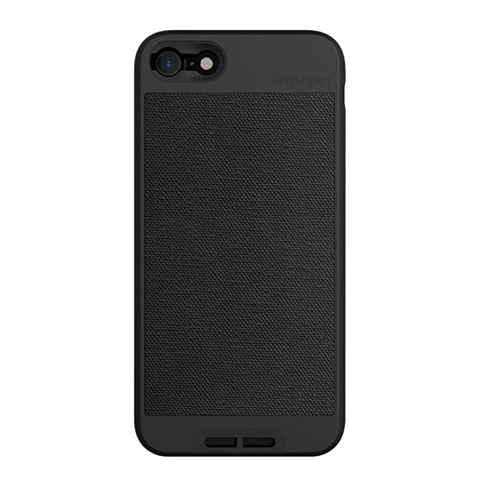 size 40 513bc ae285 iPhone 7 / iPhone 8 Case || Moment Photo Case in Black Canvas - Thin,  Protective, Wrist Strap Friendly case for Camera Lovers.