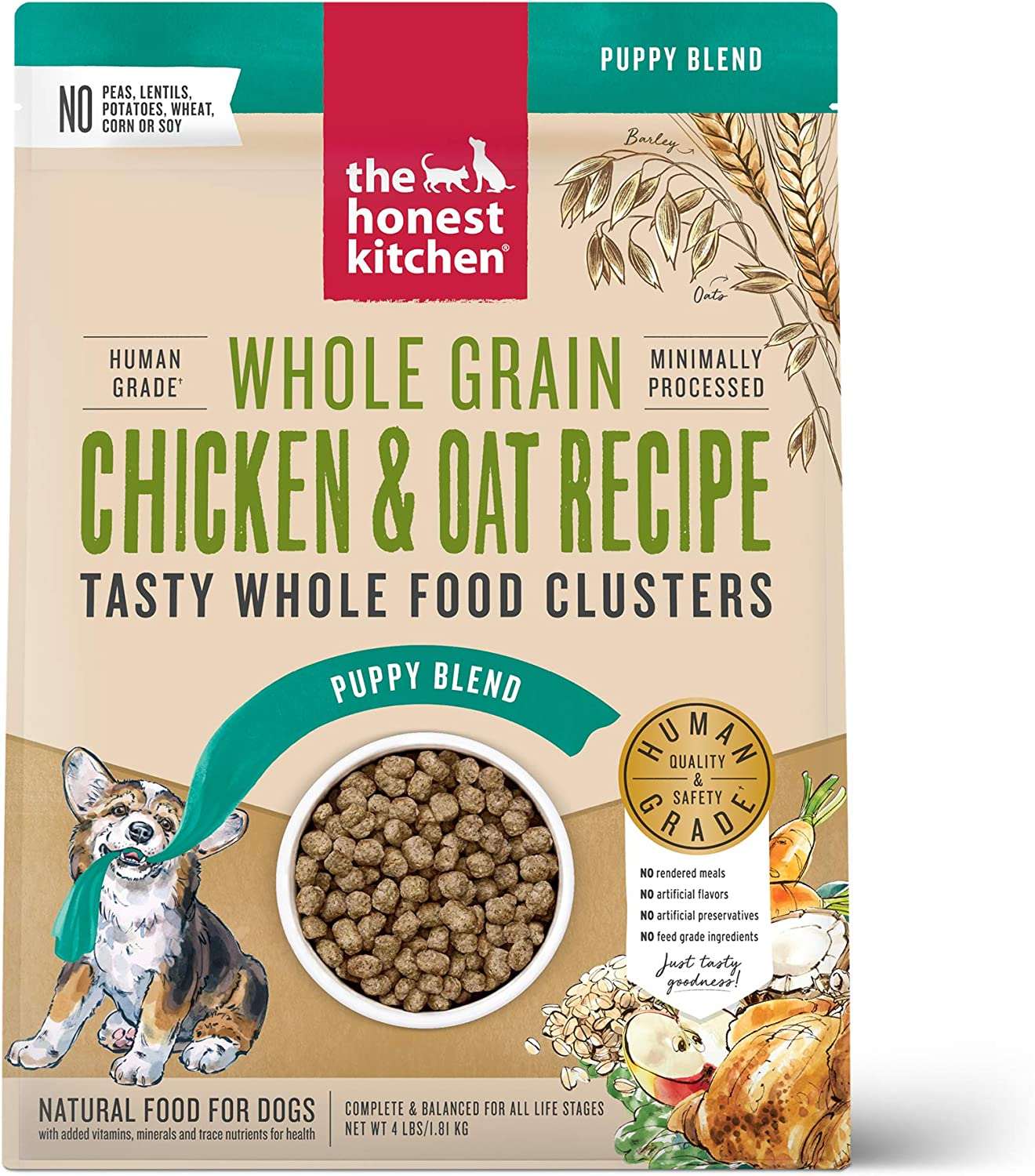 The Honest Kitchen Whole Food Clusters Human Grade Dry Puppy Food