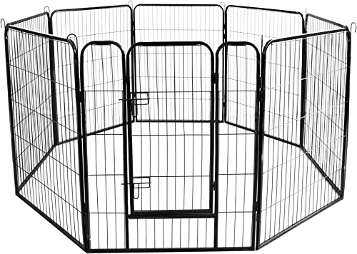 Meihua Heavy Duty Foldable Portable Metal Pet Playpen,Dog Pets Exercise Fence Barrier Playpen Kennel Outdoor Indoor