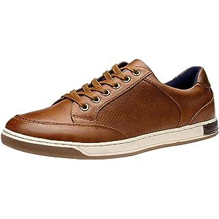 JOUSEN Men's Sneakers Memory Foam Casual Shoes for Men (9.5,Brown)