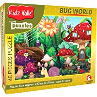 Kidz Valle Bugworld 48 Pieces Tiling Puzzles (Jigsaw Puzzles, Puzzles for Kids, Floor Puzzles) Puzzles for Kids Age 4 Years and Above