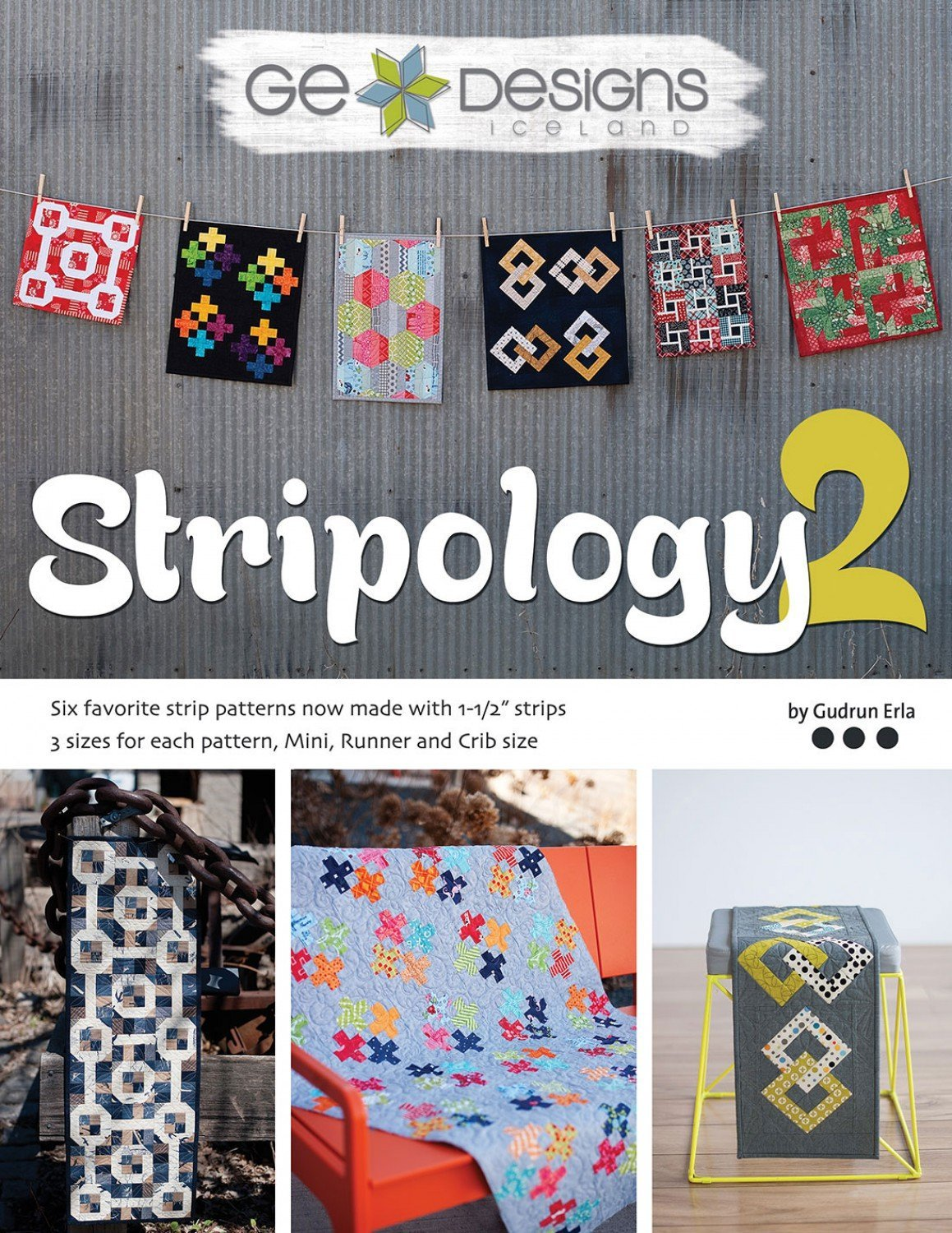 G.E. Designs Stripology 2 Softcover Quilt Strip Pattern Book GE Designs GE-510