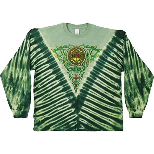 cd2434b074fe Amazon.com  Grateful Dead Men s Celtic Knot Tie Dye Long Sleeve ...