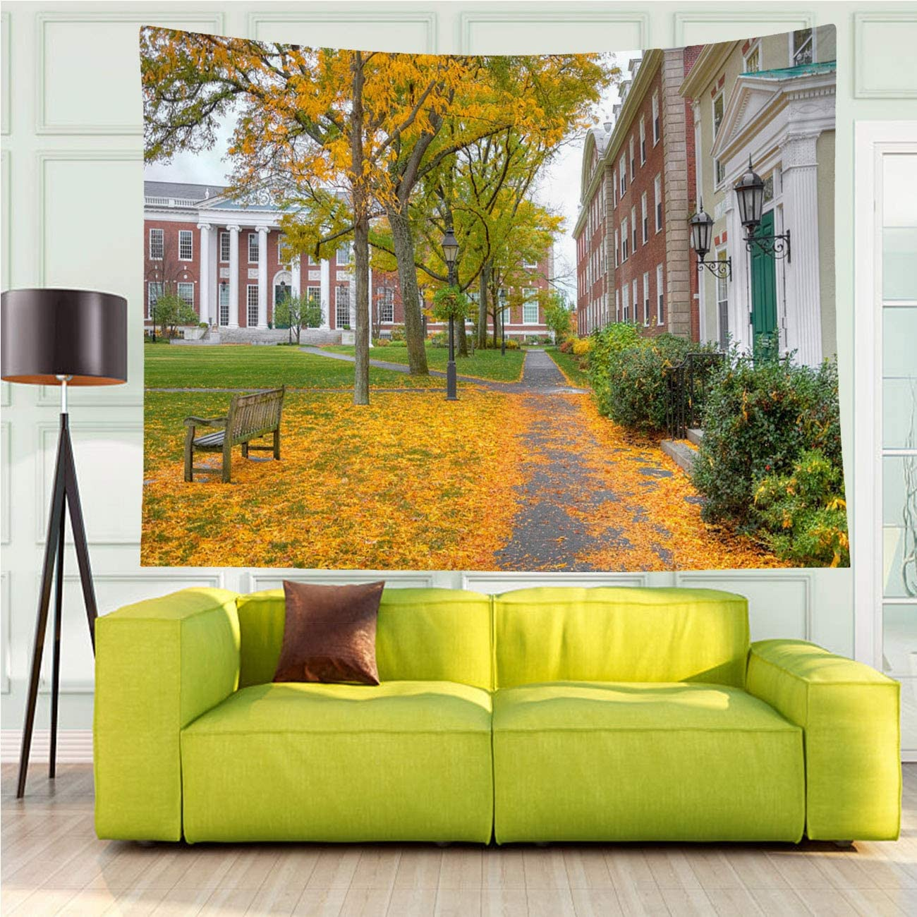 MinGz Landscape Tapestry Wall Hanging Versatile,Harvard University,Tapestry for Living Room Bedroom Dorm Home Decor,70x50 in