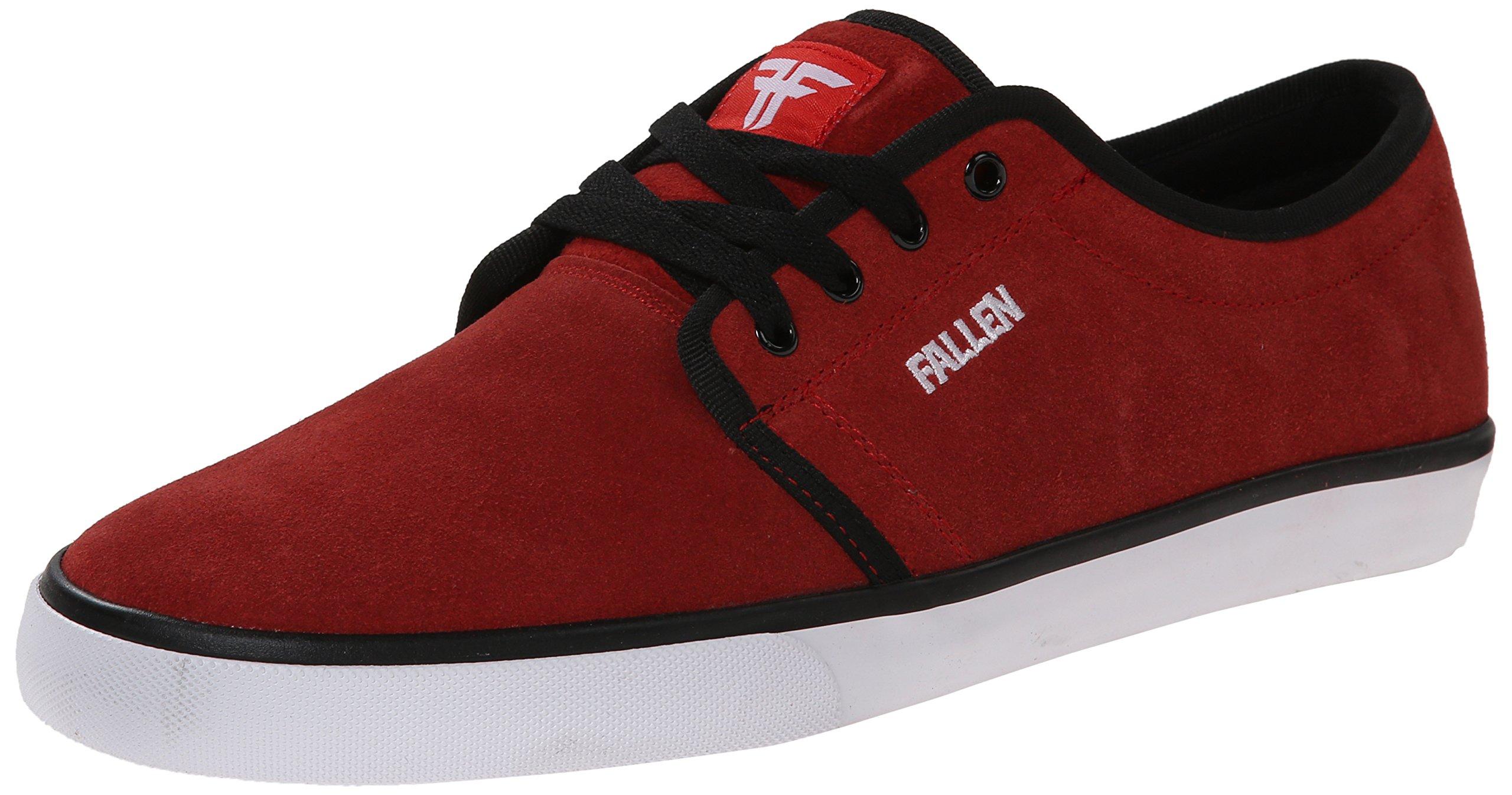 Fallen Men's Forte 2 Skateboard Shoe, Blood Red/White, 12 M US by Fallen