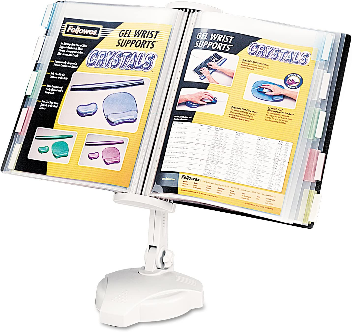 Fellowes Desktop/Wall Mount Copyholder, Plastic, 20 Sheet Capacity, Platinum, EA - FEL22300