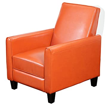 Merveilleux Amazon.com: Best Selling Davis Leather Recliner Club Chair, Burnt Orange:  Kitchen U0026 Dining