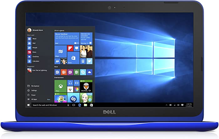 "Dell Inspiron i3162-0003BLU 11.6"" HD Laptop (Intel Celeron N3060, 4GB RAM32 eMMC HDD) Bali Blue"