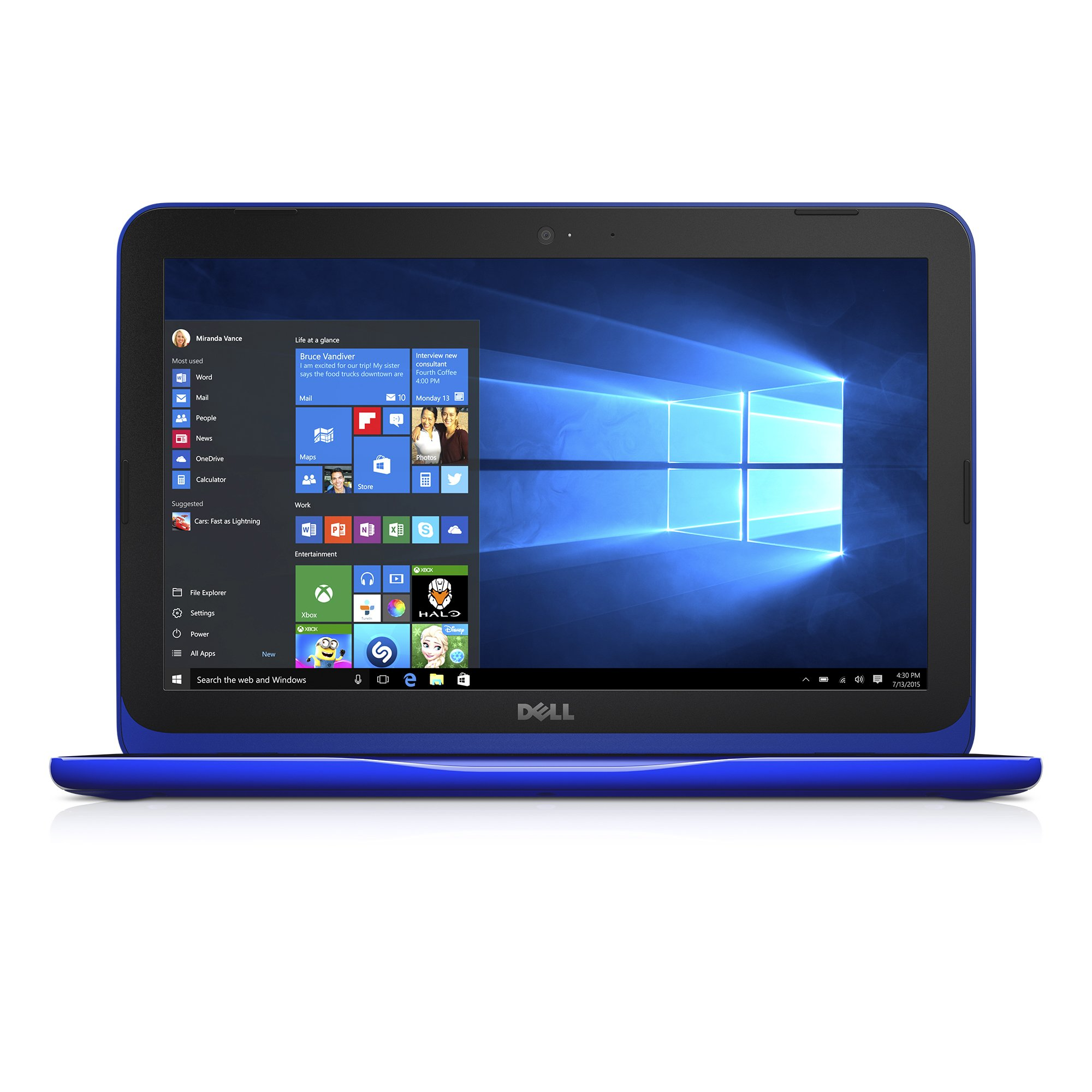 dell inspiron i3162 0003blu 11 6 inch hd laptop intel celeron n3060 4gb ram 3 ebay. Black Bedroom Furniture Sets. Home Design Ideas
