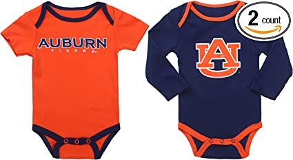 Fast Asleep Pjs NCAA Auburn Tigers 2 pcs Baby Bodysuits
