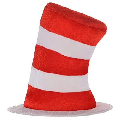 Costumes USA Dr. Seuss Cat in the Hat Top Hat for Kids, Halloween Costume Accessories, One Size: Toys & Games [5Bkhe0203229]