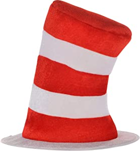 Costumes USA Dr. Seuss Cat in the Hat Top Hat for Kids, Halloween Costume Accessories, One Size