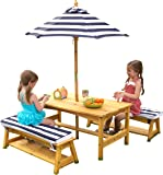 KidKraft Outdoor table and Chair Set with Cushions and Navy Stripes  sc 1 st  Amazon.com & Amazon.com: Activity Sandbox with Canopy: Toys u0026 Games