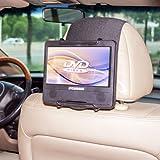 TFY Support appuie-tête pour lecteur DVD portable avec écran pivotant et iPad Pro, également compatible avec iPad Air et autres tablettes de 22,8 cm (9 pouces)