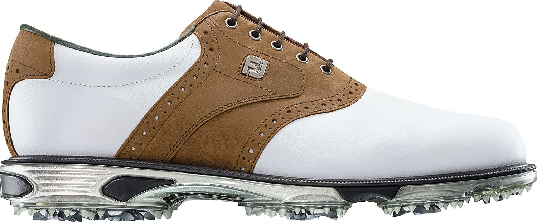 FootJoy DryJoys Tour Cleatedゴルフシューズ B072N6T5WP  ホワイト/タン 10.5 D(M) US