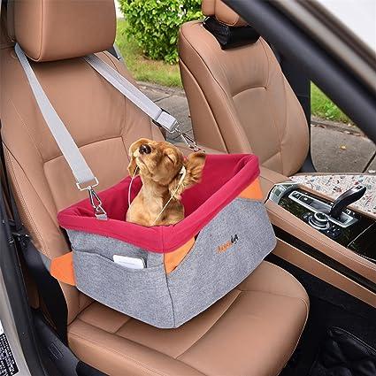 Legendog Autositz Hund, Transportbox für Hunde | Wasserdichter Autositzbezug für Hunde | mit Kissen und verstellbarem Gurt |