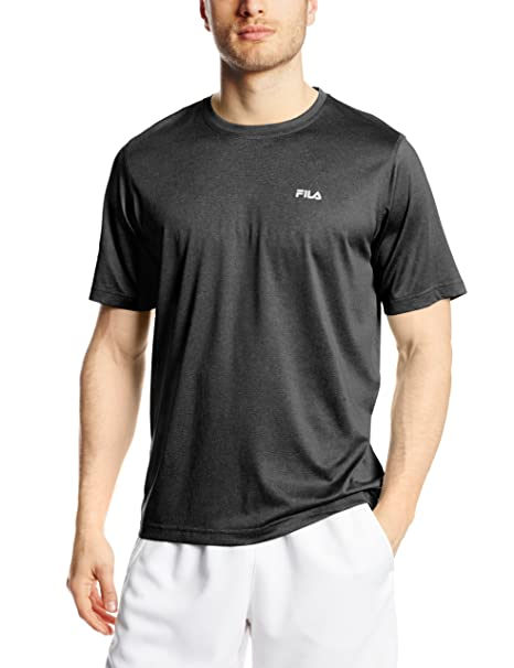 d4e0f3c254aa Amazon.com  Fila Tennis Men s Short Sleeve Crew Shirt  Sports   Outdoors