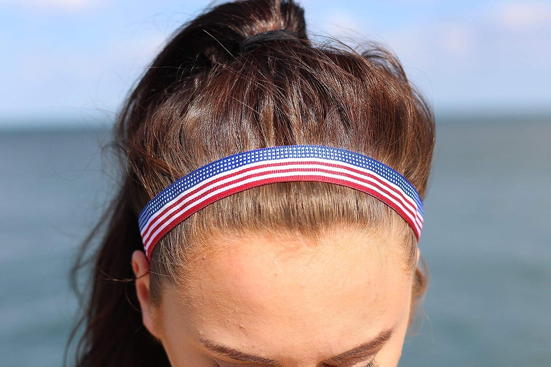 Girl/'s headbands Woven Headband Toddler Headband Braided Headband 4th of July Headband Ribbon Headband 4th of July Red White Headband