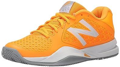 ad379bf3777 New Balance Women s WC996V2 Tennis Shoes - Orange Grey White  Amazon ...