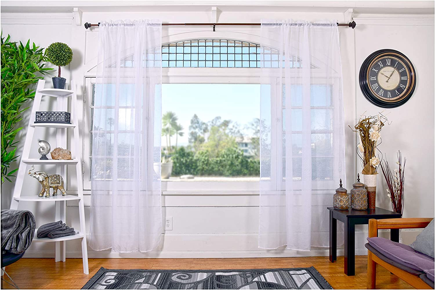 """All American Collection Doli Sheer Curtains 