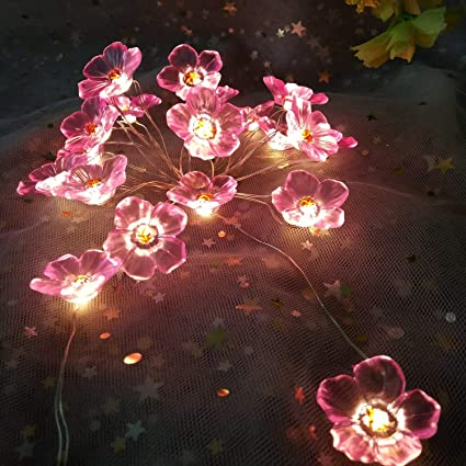 new style a5de1 1f392 Tereu Battery Operated Lights String Lights for Bedroom Baby Teen Girl Room  Decorations Dorm Dining Apartment Home Bed Wall Pink Decor Fairy led Table  ...