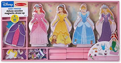 Amazon Com Walmart Special M D Disney Princess Deluxe Wooden Magnetic Dress Up Set Toys Games
