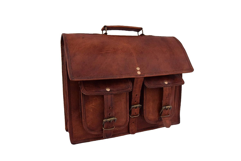 Leather Laptop Messenger Shoulder Bag Vintage Leather 13 Inch Laptop Briefcase Leather Satchel 2PHB-14