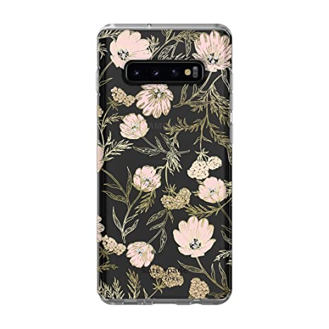newest collection 816e1 e9fc3 Kate Spade New York Phone Case | for Samsung Galaxy S10 Plus | Protective  Clear Crystal Hardshell Phone Cases with Slim Floral Design and Drop ...