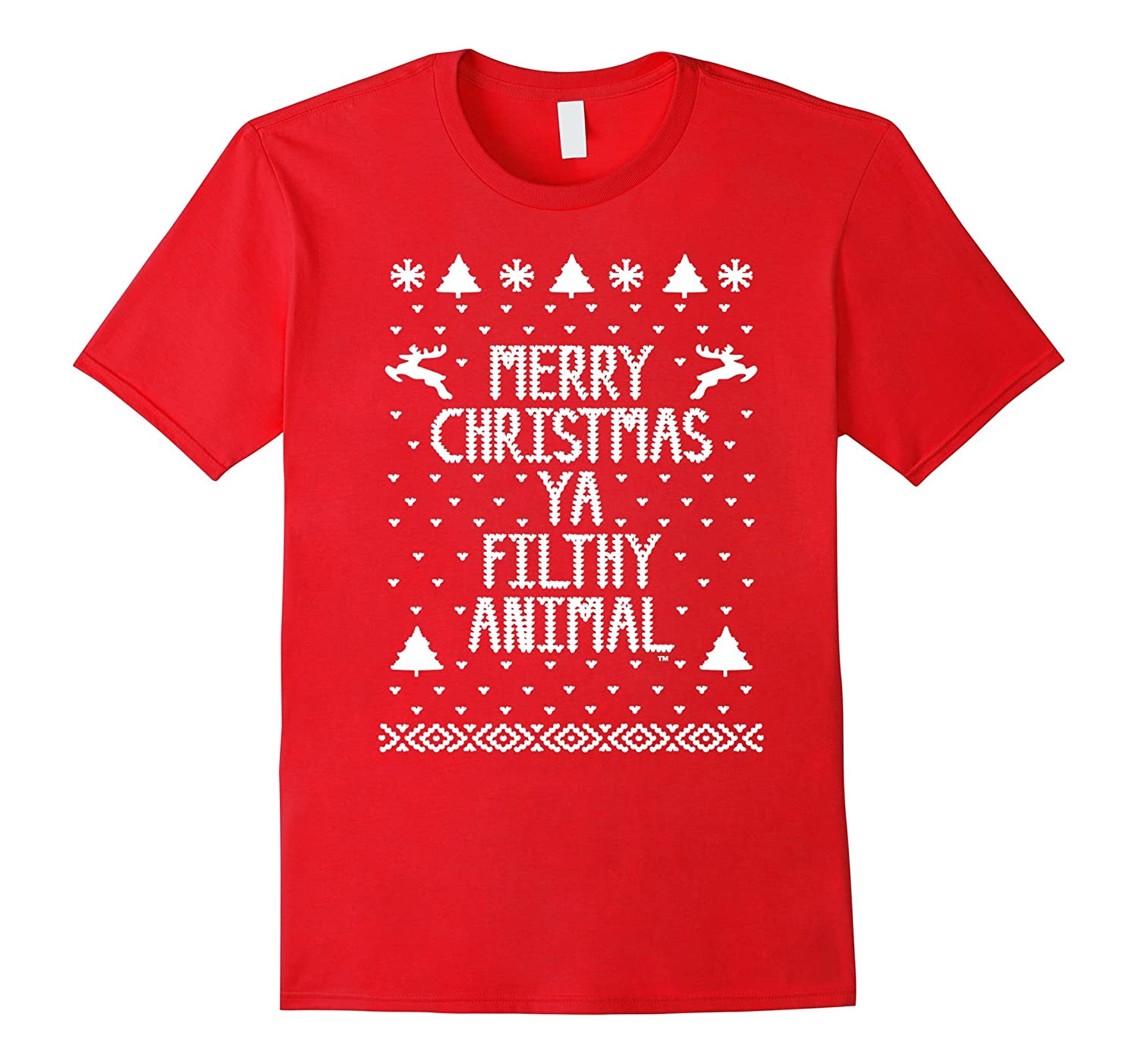 Christmas T-shirt - Merry Christmas Ya Filthy Animal-azvn