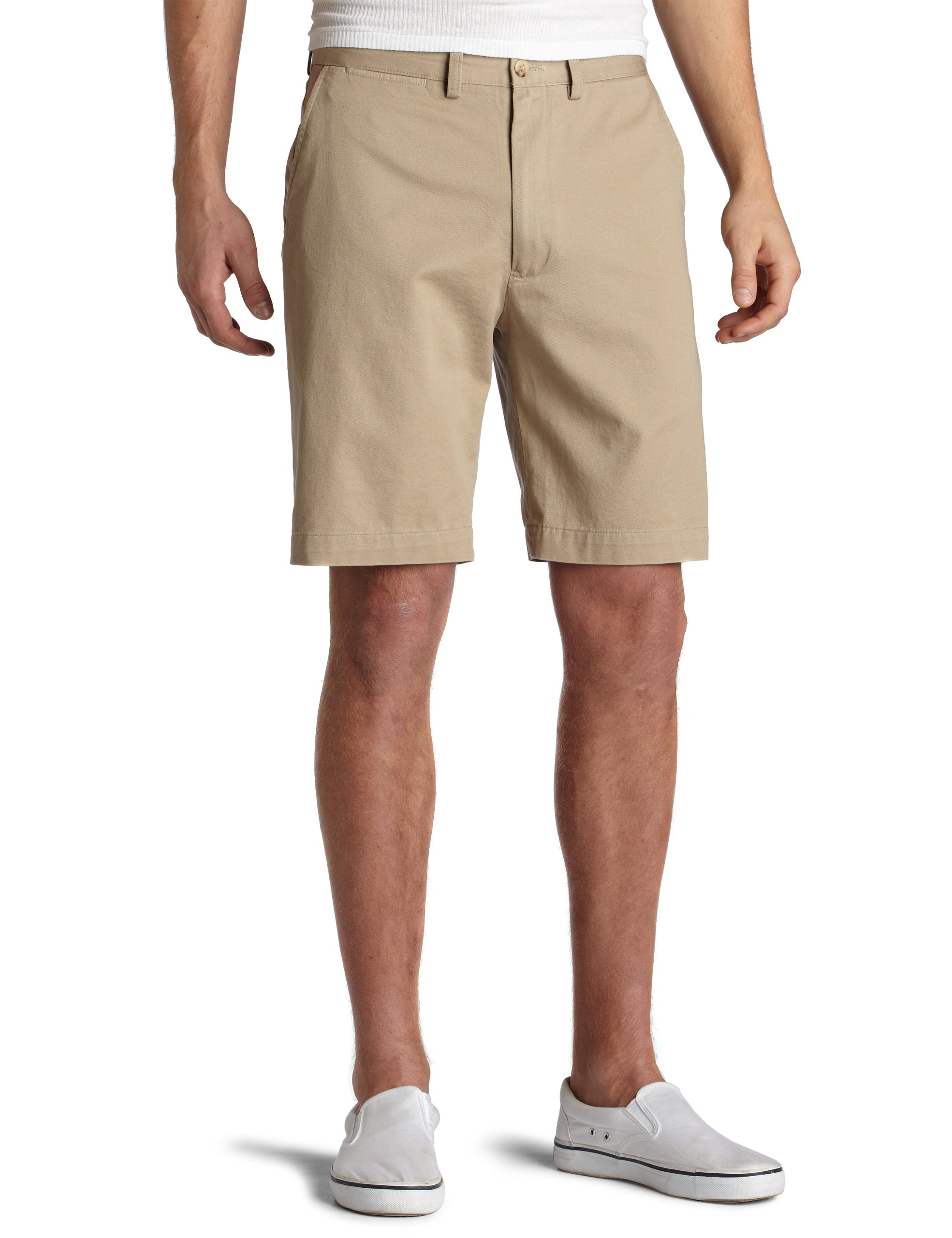 Nautica Men's Twill Flat Front Short,True Khaki,33 by Nautica (Image #1)