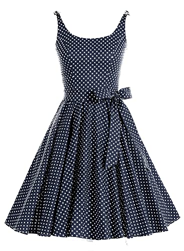 Bbonlinedress 1950's Bowknot Vintage Retro Palka Dot Rockabilly Swing Dress