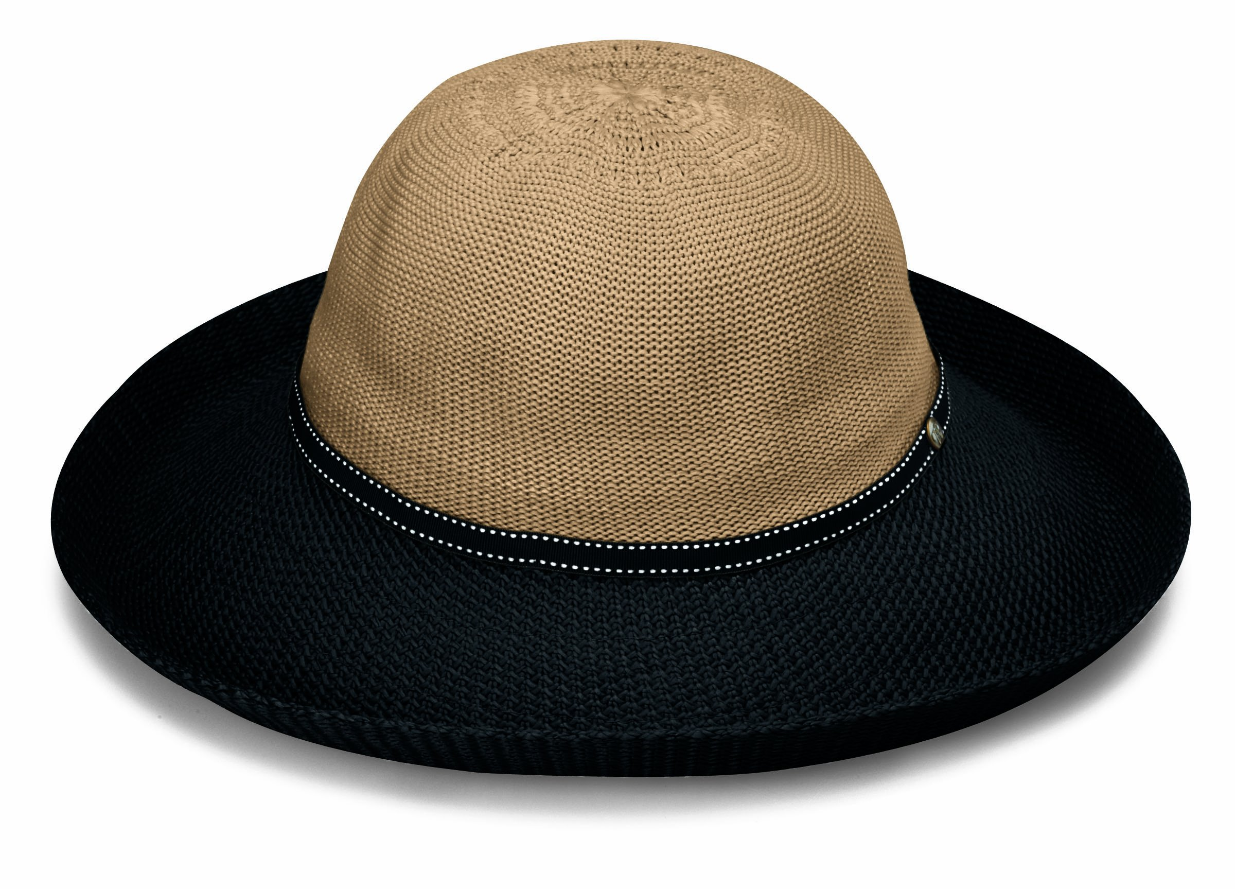 a7fb942ea2e Details about Wallaroo Hat Company Women s Victoria Two-Toned Sun Hat - UPF  50+ - Packable -