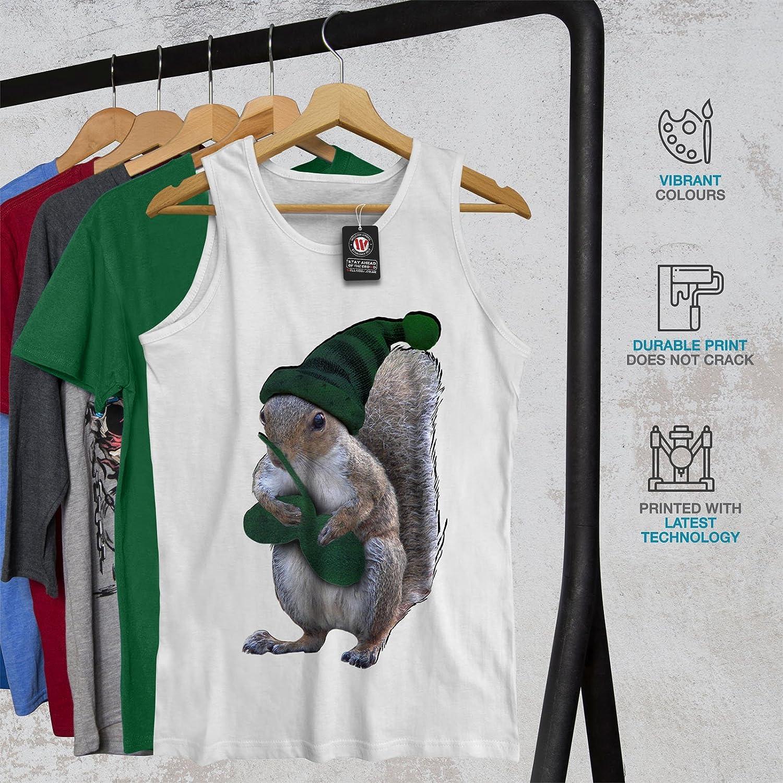 wellcoda Green Squirrel Hat Mens Tank Top Nut Dwarf Athlete Shirt