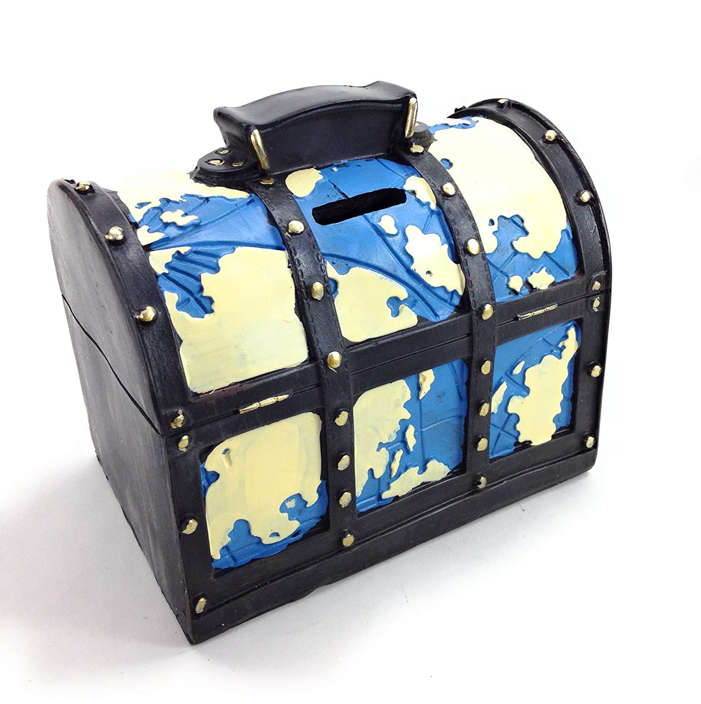 4d3a71901c Amazon | 【Woliwowa】 オブジェ 貯金箱 ビンテージ風 トランク 旅行バッグ モチーフ (ブルー) [並行輸入品] |  Woliwowa | 置物・オブジェ 通販