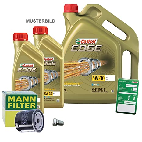 1 x Set de aceite – Muñeco de filtro de aceite + 7 L Castrol Edge