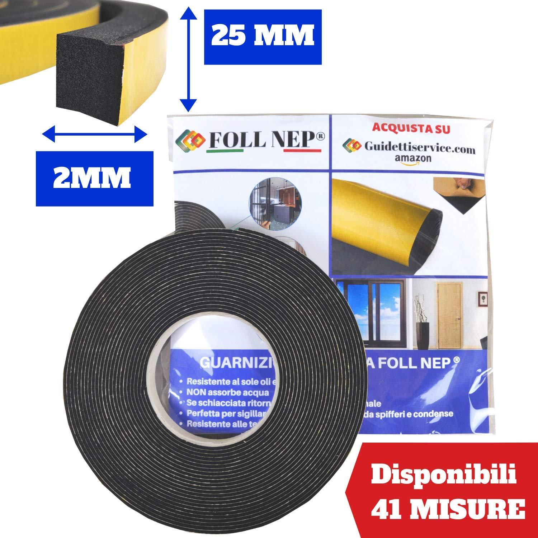 Cinta adhesiva negra de 2 mm en rollo de 10 metros de neopreno de Guidetti Service/®.