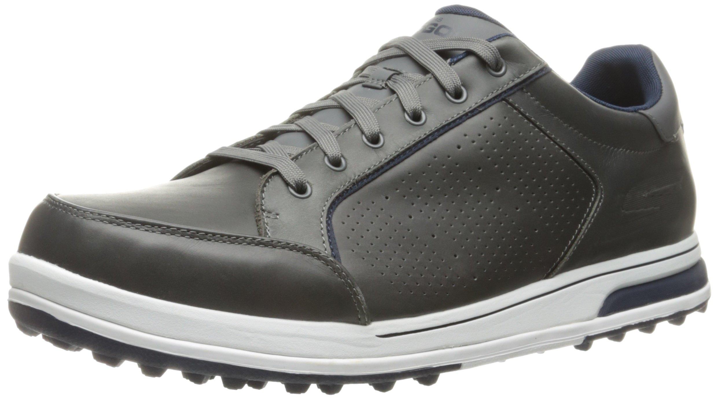 Skechers Men's Go Golf Drive 2 Lx Golf Shoe,Charcoal/Navy,12 M US