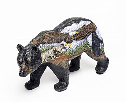 Groovy 3 D Scenic Bear With Eagle Wolf And Black Bear Figurine Bear Country Statue Bcweb Download Free Architecture Designs Scobabritishbridgeorg
