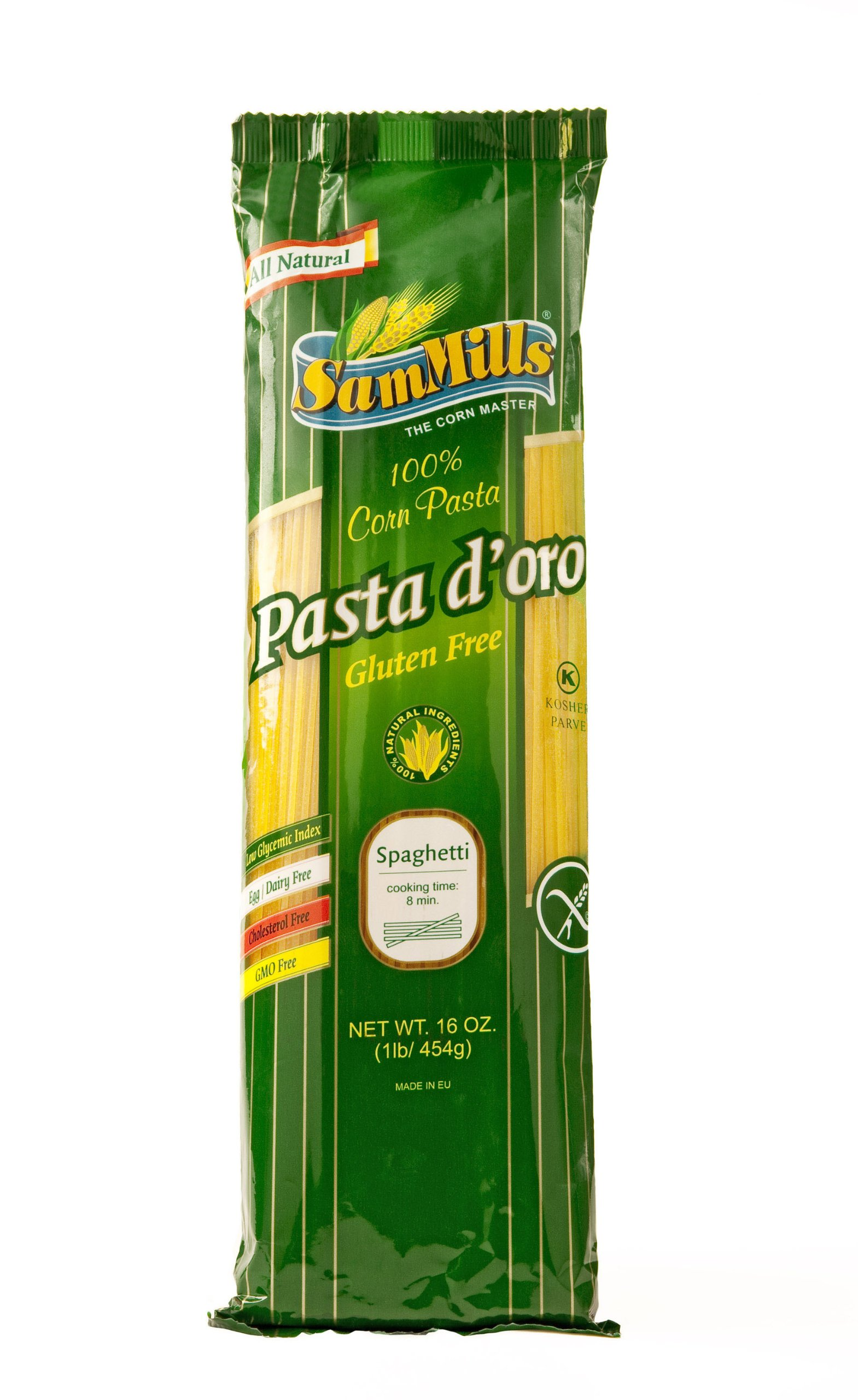 Sam Mills Gluten Free Pasta D'Oro, Corn Spaghetti, 16 Ounce Bags (Pack of 24)