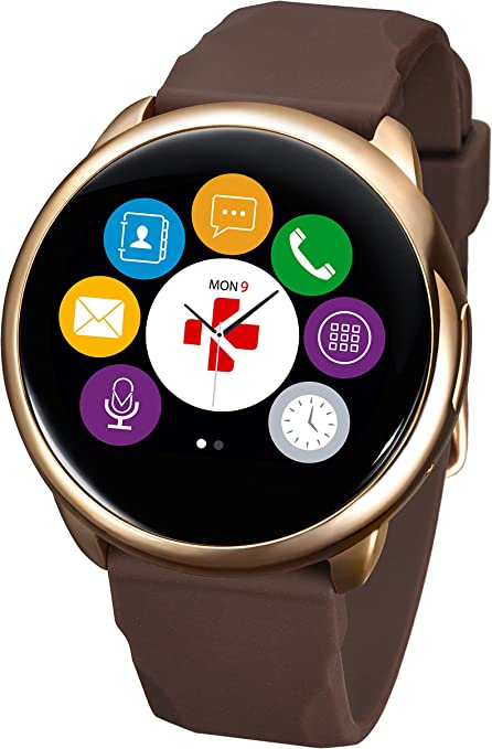 ZeRound Smartwatch (Pink Gold/Brown)