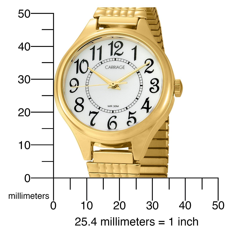 959da0ac70ca Carriage by Timex C3 C238 de las mujeres tono dorado redondo caso esfera  blanca reloj de expansión banda reloj  Amazon.es  Relojes