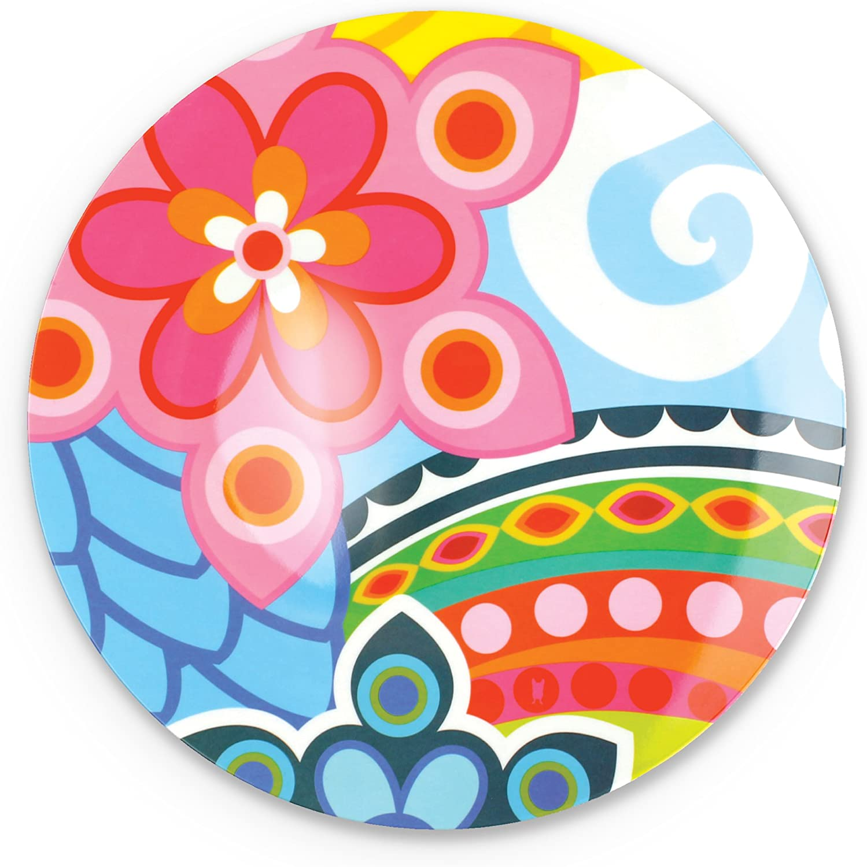 """French Bull 11"""" Dinner Plate - Melamine Dinnerware - Platter, Dish, Serving, Collection - Tropic Fantasia"""