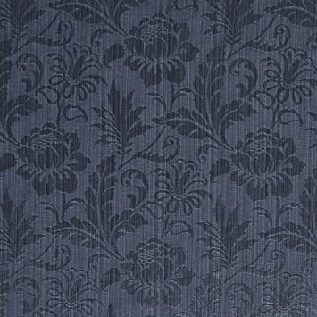 Amazon Com Dark Blue And Light Blue Tone On Tone Floral And Leaf