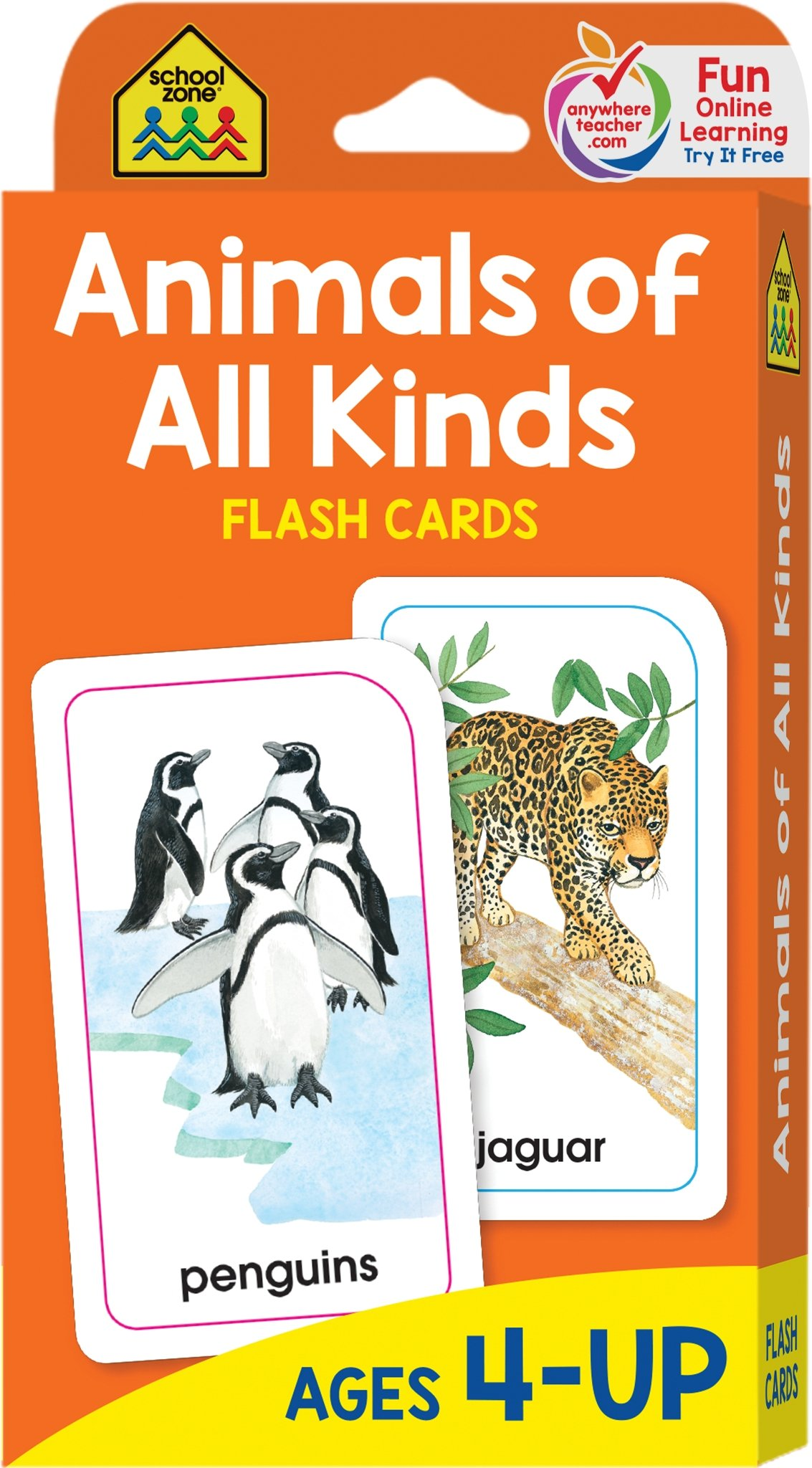 graphic about Zoo Animal Flash Cards Free Printable identify University Zone - Pets of All Styles Flash Playing cards - Ages 4 and