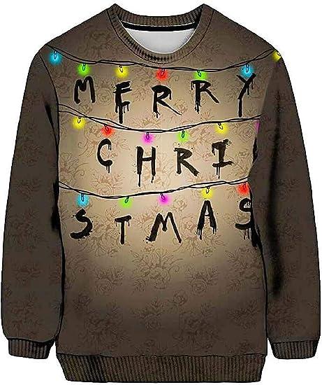 Merry Christmas STRANGER THINGS Ladies Men/'s Boys /& Girls Xmas Gift sweatshirt