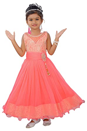 ddad618bd Coral princess dress for girls for age 3 to 14 years (5-6 Years. Roll over  image to zoom in